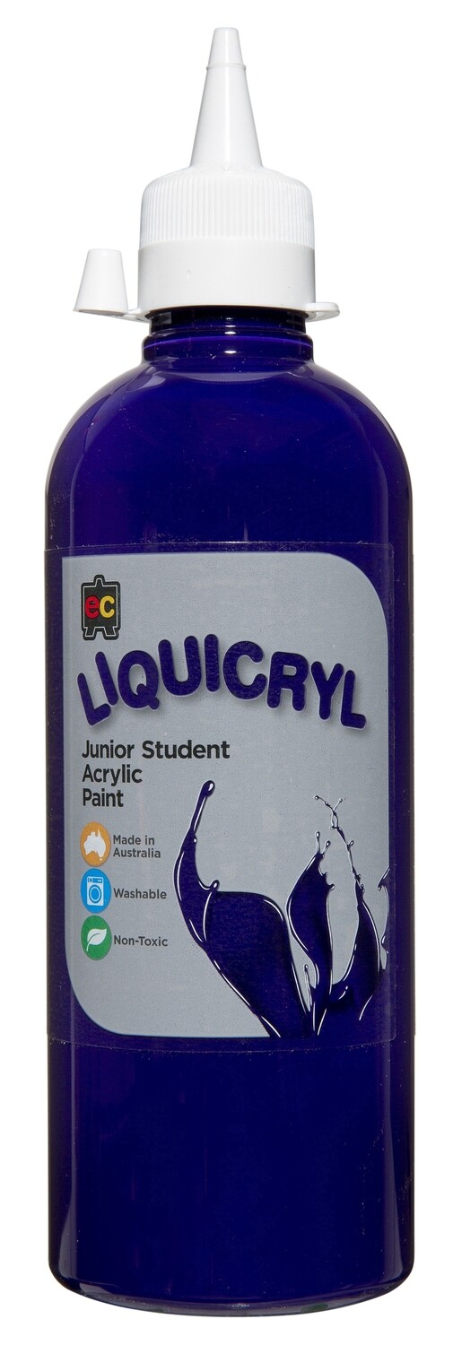 Liquicryl Junior Student Acrylic 500ml Purple
