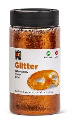 Glitter 200g Jar Orange