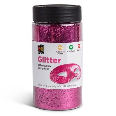 Glitter 200g Jar Pink