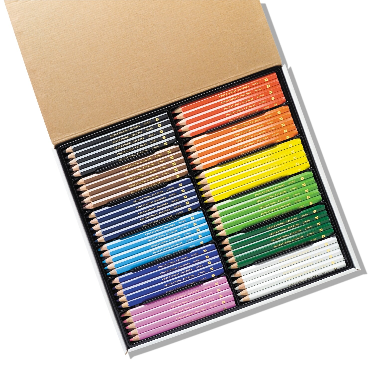 Jumbo Triangular Washable Colour Pencil 120pc