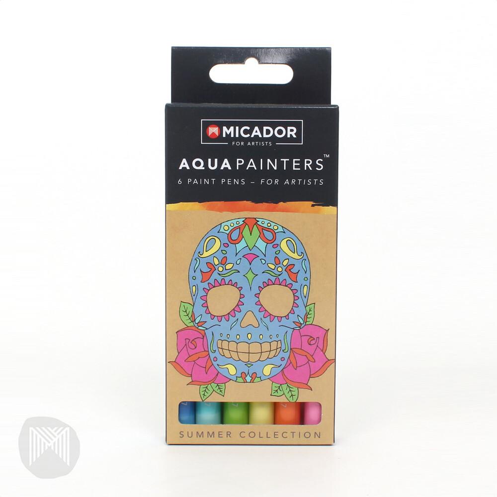 Micador For Artists AquaPainters, Summer Box (6 pens)