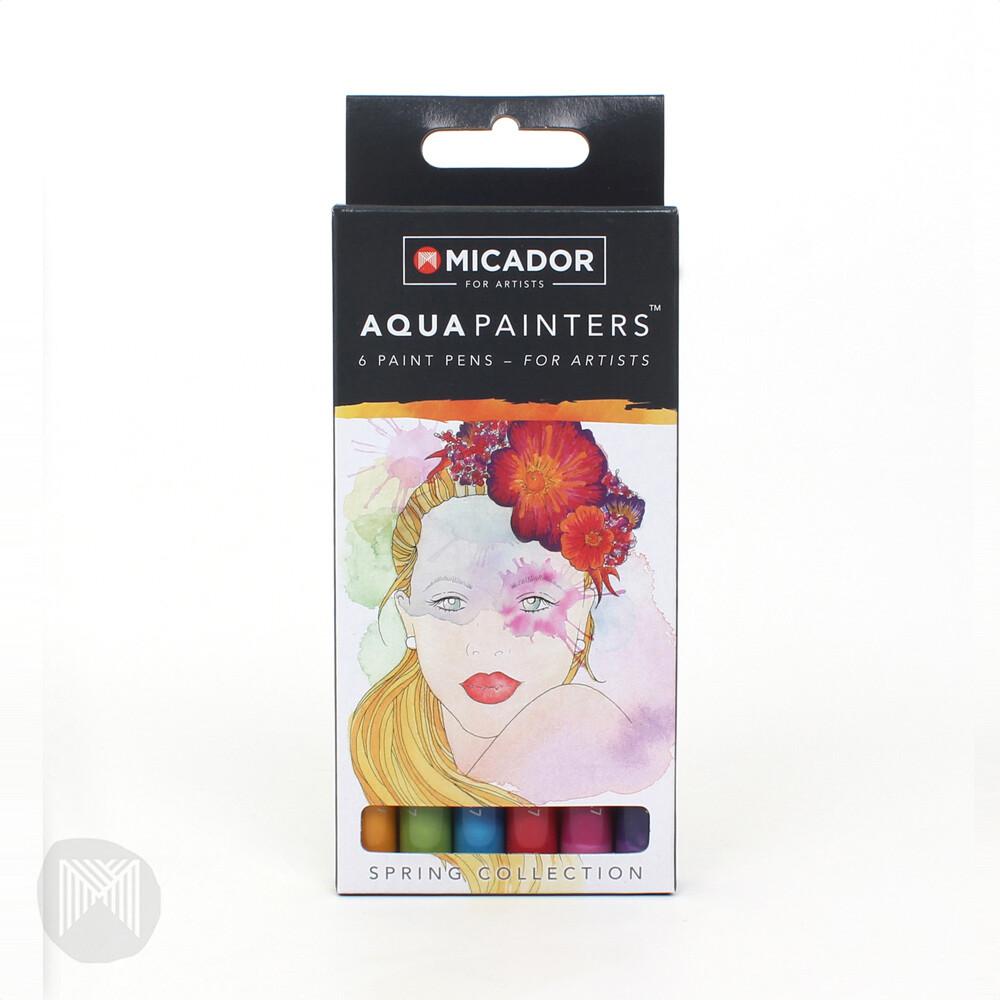 Micador For Artists AquaPainters, Spring Box (6 pens)