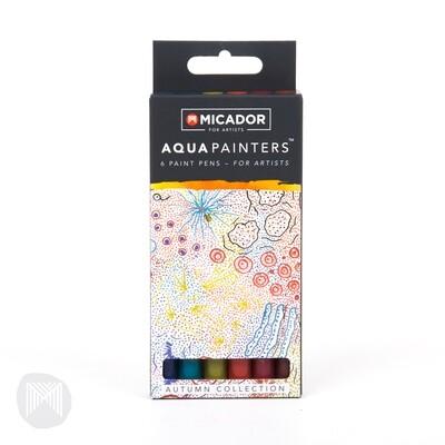 Micador For Artists AquaPainters, Autumn Box (6 pens)