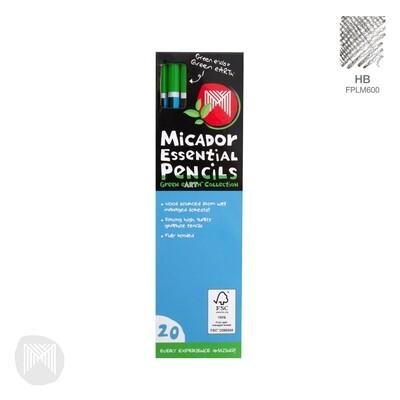 Micador Essential Pencils-HB,2B,4B, & 6B pack of 20