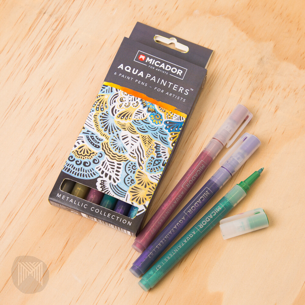 Micador For Artists AquaPainters, Metallic Box (6 pens)