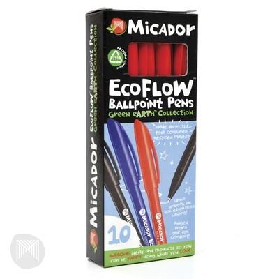 Micador EcoFlow Ballpoint Pen Red