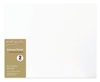 Canvas Panels Pkt 2 25.4 x 30.5 cm
