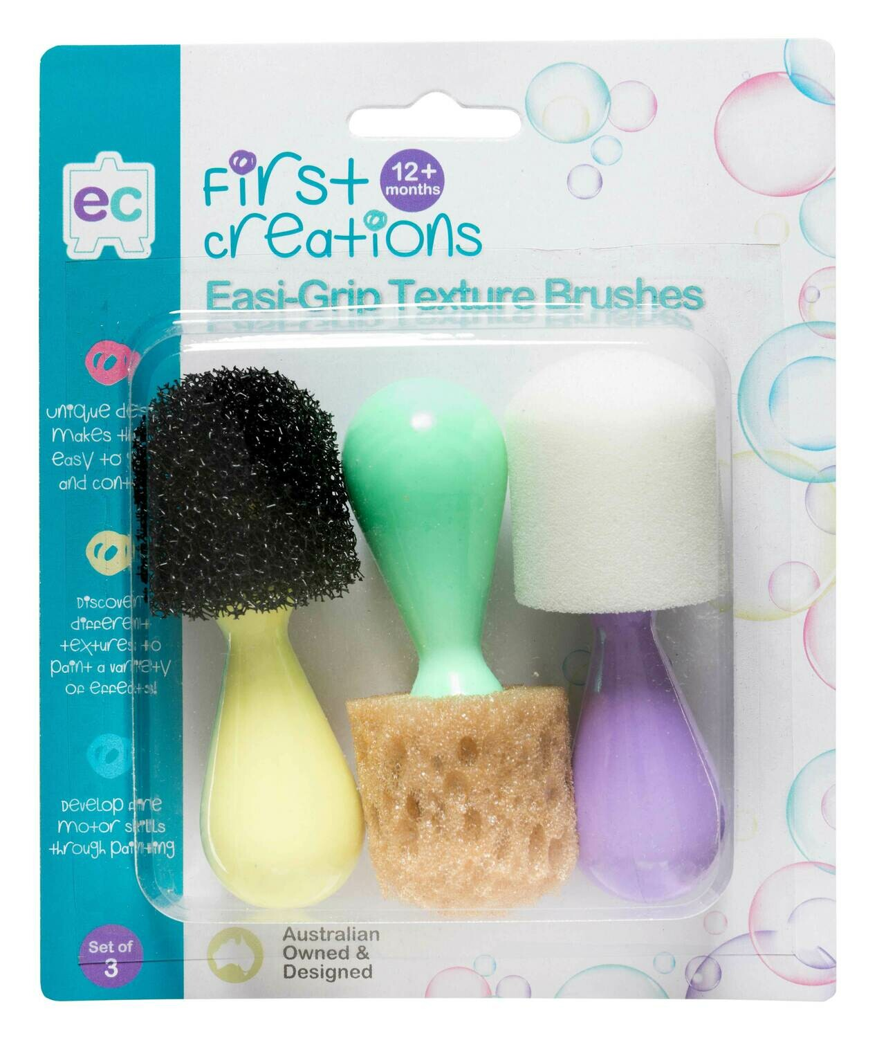 Easi-Grip Texture Brushes Set of 3