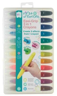 Easi-Grip 3 in 1 Crayons Set of 12