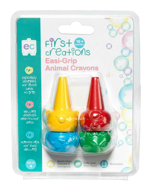 Easi-Grip Animal Crayons Set of 4