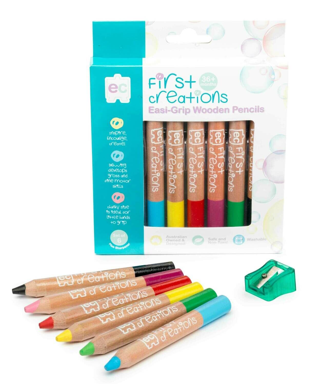 Easi-Grip Wooden Pencil