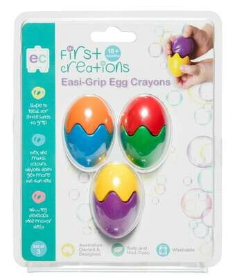 Easi-Grip Egg Crayons Set of 3