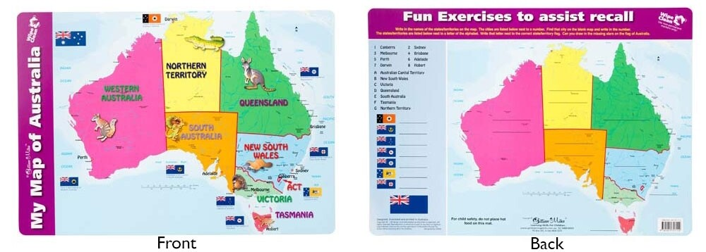 My Map of Australia Placemat