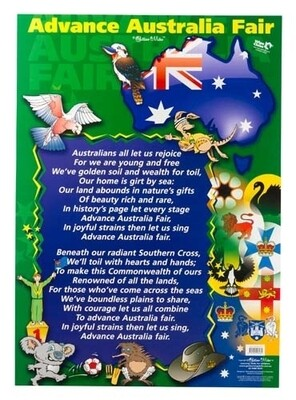 Advance Australia Fair Wall Chart