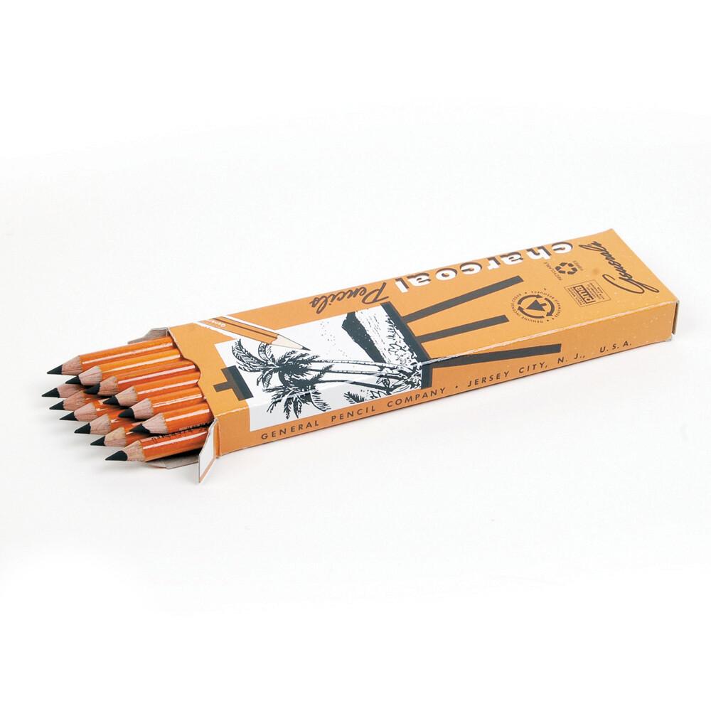 General's Pencils, Charcoal Pencils, HB, Pack 12