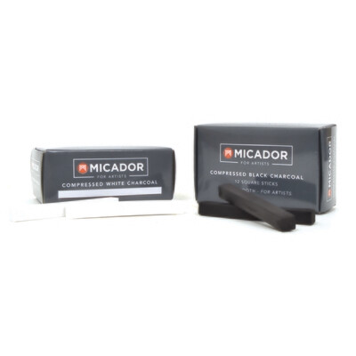 Compressed Charcoal- Box 12 Micador for Artists