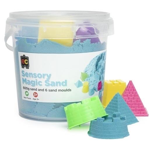 Sensory Magic Sand with Moulds 600g Tub