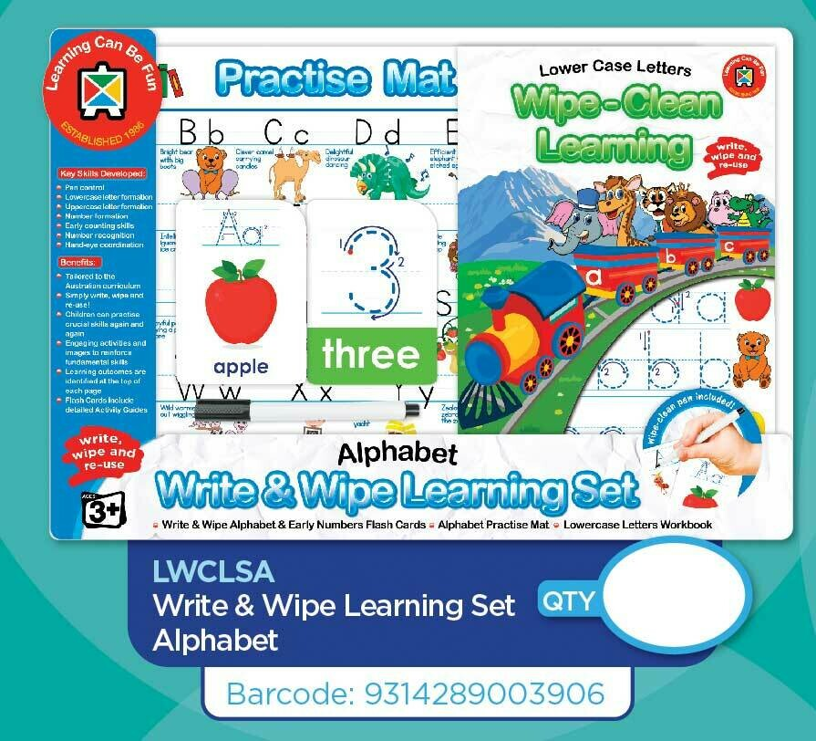 Pre-Order Write & Wipe Learning Sets