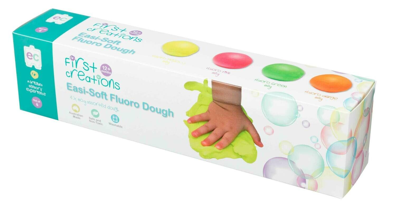 Easi-Soft Fluoro Dough Set of 4