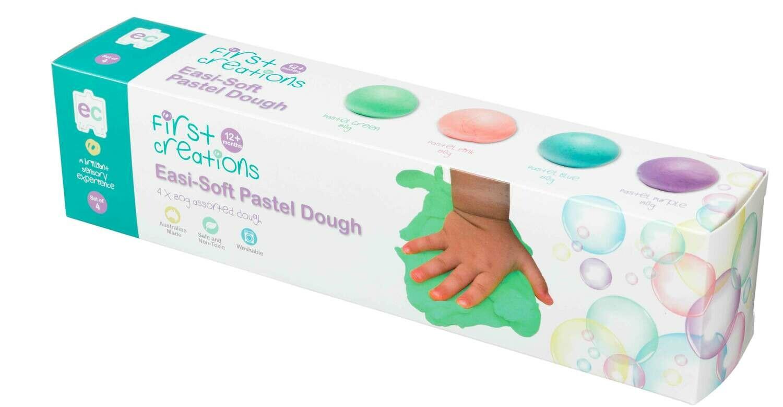Easi-Soft Pastel Dough Set of 4