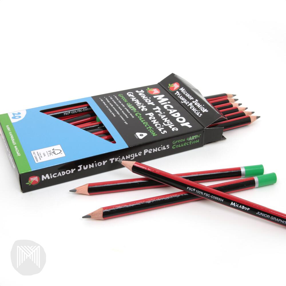 Junior Triangle Graphite Pencil FSC 100% HB BOX 20