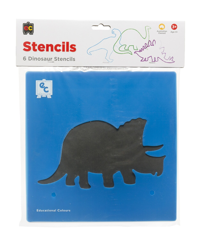 Dinosaurs Stencil of 6