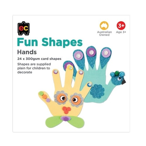 Fun Shapes Hands 24pc