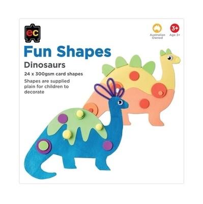 Fun Shapes Dinosaurs 24pc