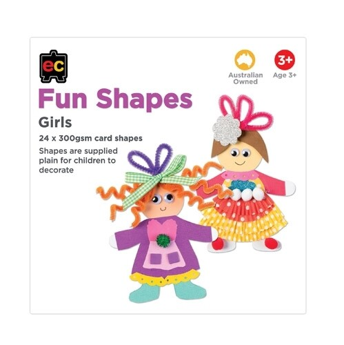 Fun Shapes Girls 24pc