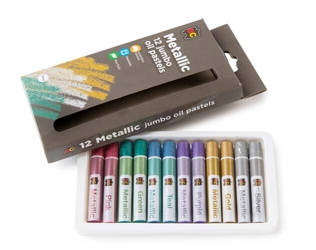 Jumbo Oil Pastels Metallic Pkt of 12