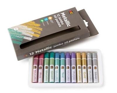 Jumbo Oil Pastels Metallic Pkt of 12