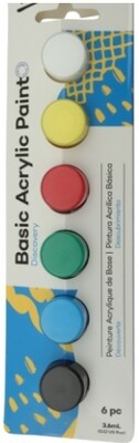 Mont Marte Discovery Basic Acrylics Paint Set - 6pc x 3.6ml