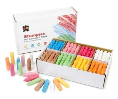 EC Stumpies Chalk Pkt 160 pcs School pack