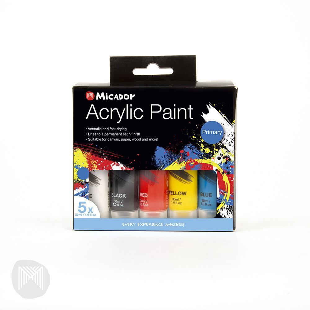 Micador Acrylic Paint Packs