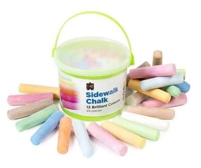 Chalk-Sidewalk Bucket (24 Pieces)