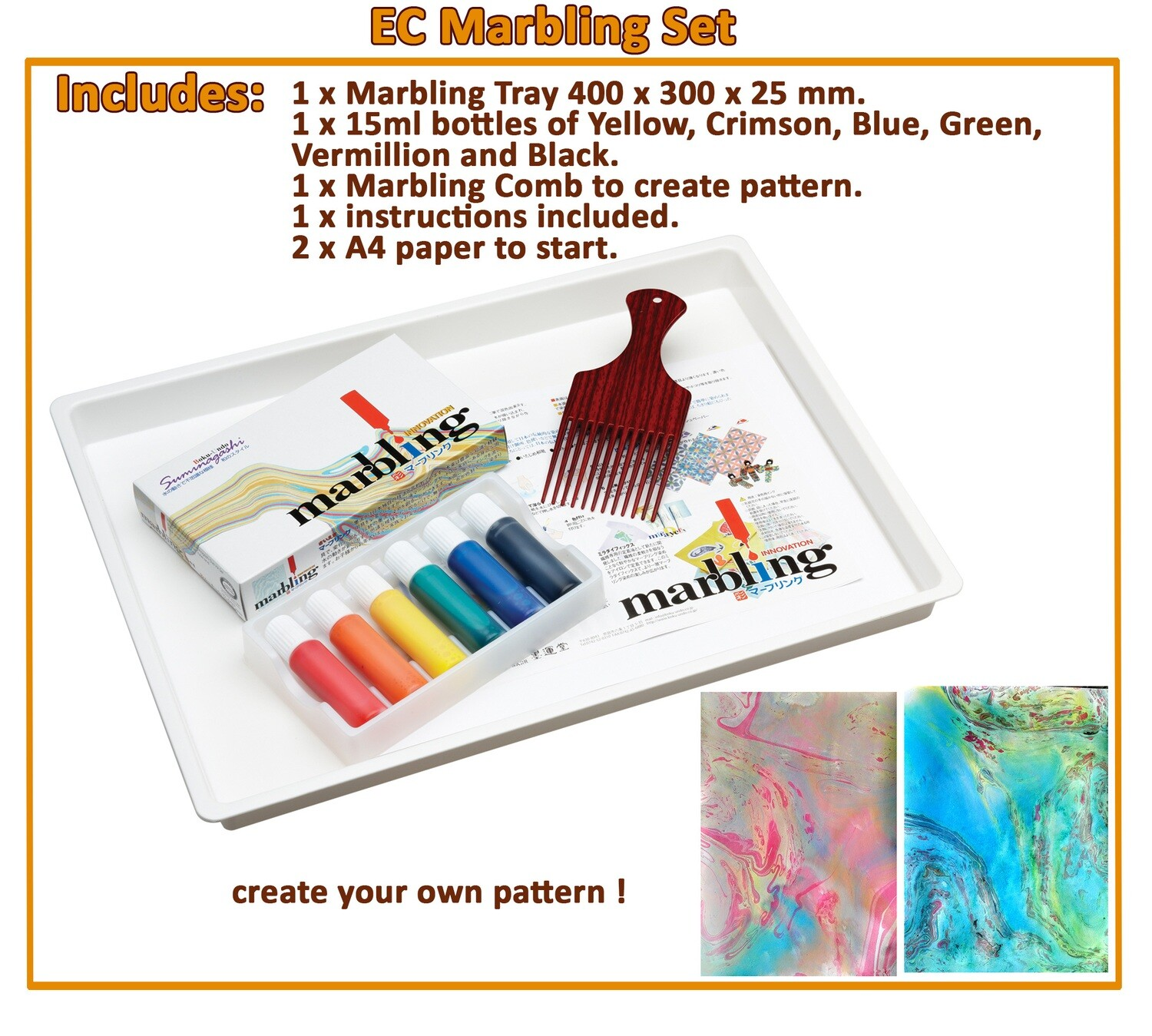 Marbling & Puzzle Set