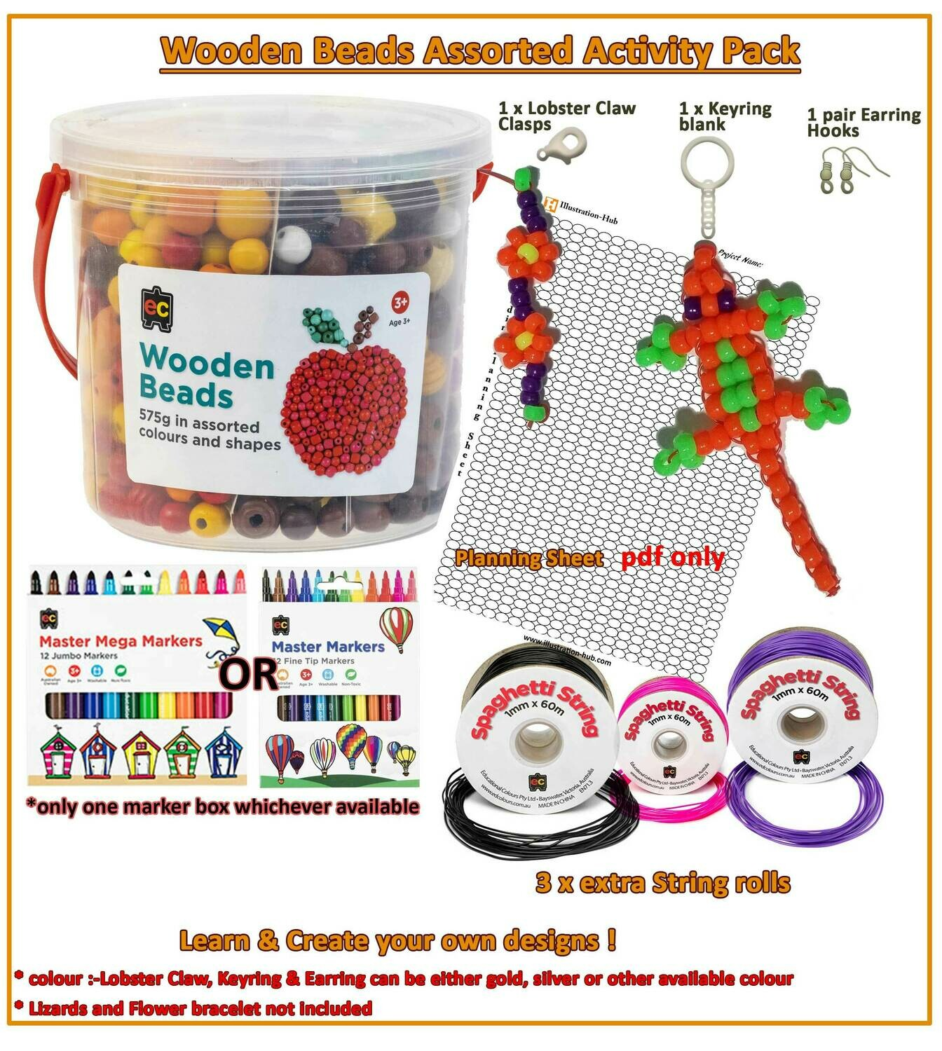 Wooden Bead Activity Pack