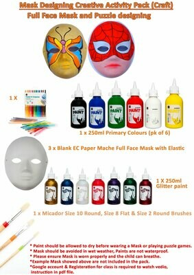 Mask Designing Activity Pack (Video Tutorial available)
