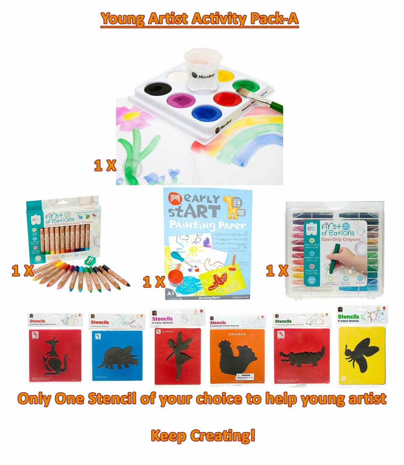 Young Artist Activity Pack-A (PDF Instruction book)