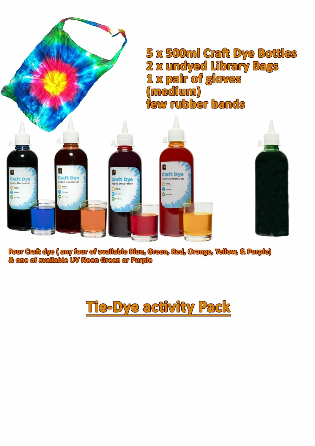 Tie-Dye Activity Pack