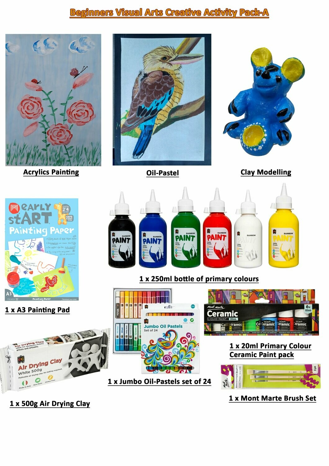 Beginners Visual Arts Creative Activity Pack-A ( Video Tutorial included)