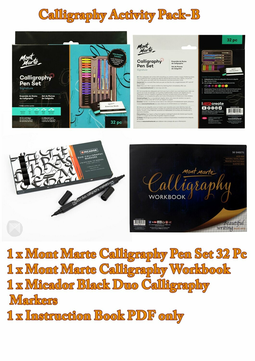 Calligraphy Activity Pack - B( PDF Instruction Book )