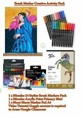 Brush Markers Illustrations (Video Tutorial)