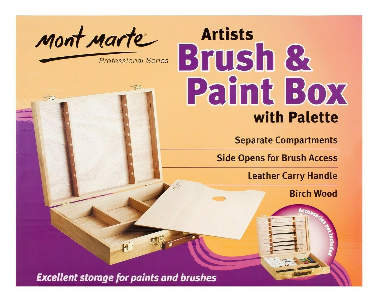 Large Brush/ Paint Box with Pallete