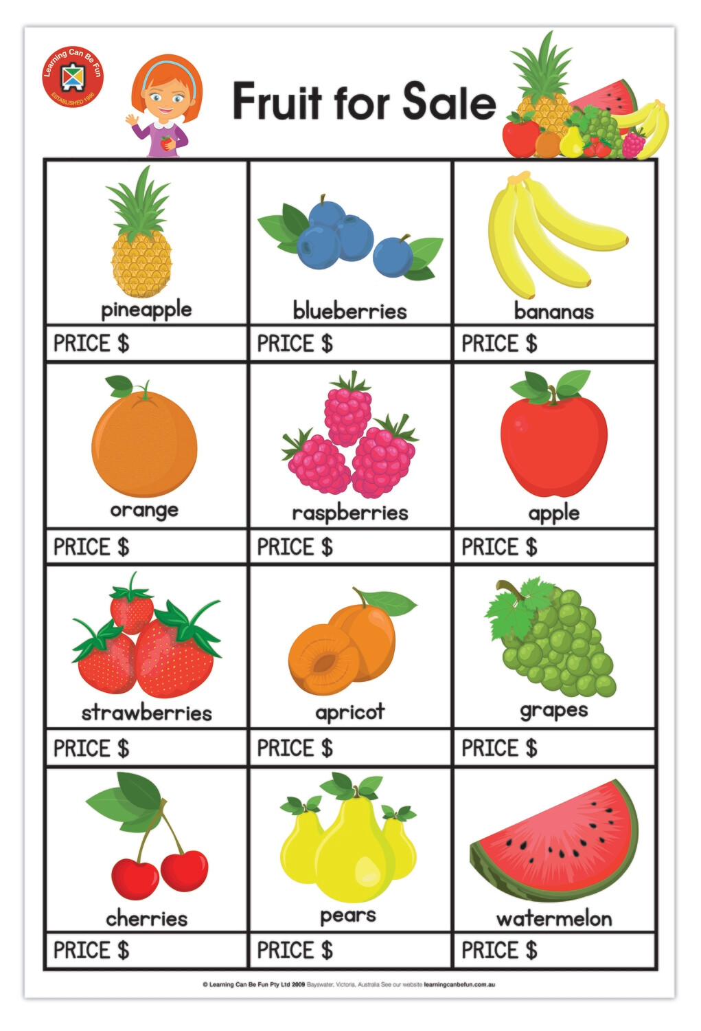 Fruit for Sale Poster