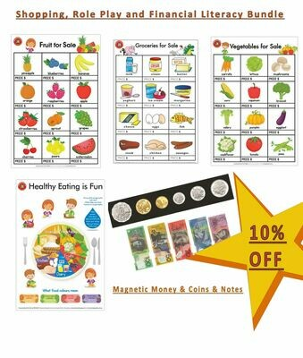Shopping, Role Play and Financial Literacy Bundle