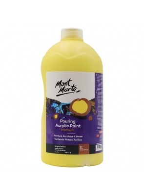 Mont Marte Acrylic Paint 1 ltr (Bright Yellow)