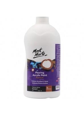 Mont Marte Acrylic Paint 1 ltr (Titanium White)