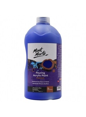 Mont Marte Acrylic Paint 1 ltr (Ultramarine Blue)