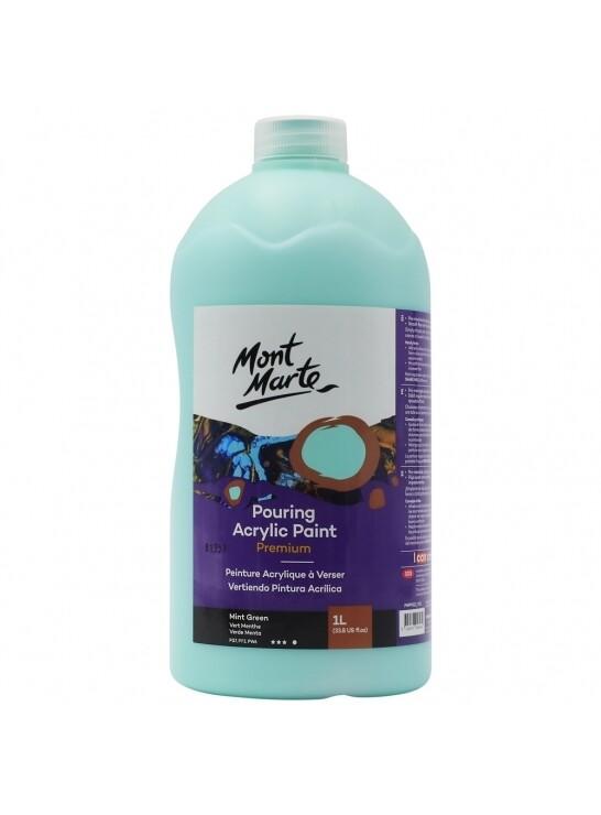 Mont Marte Acrylic Paint 1 ltr (Mint Green)